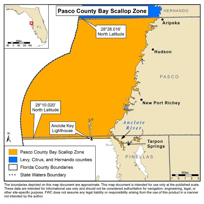 Pasco County scallop map
