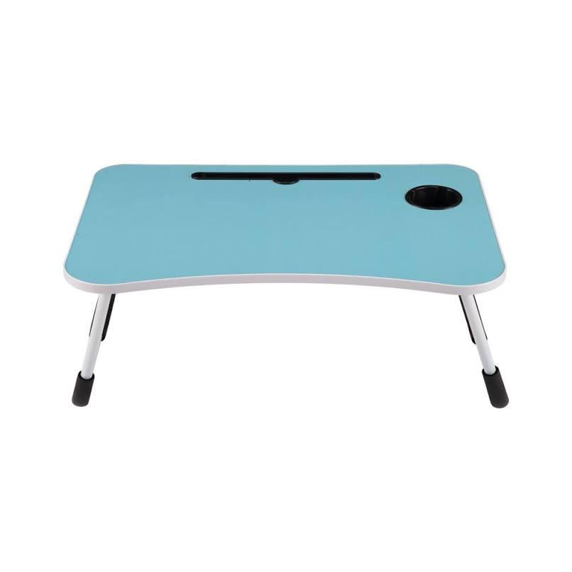 Odi Meja Laptop Dengan Tempat Gelas - Biru