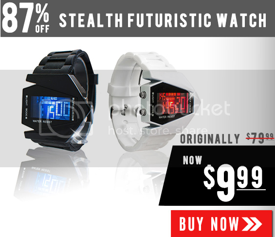 Stealth Futuristic Watch Sale.