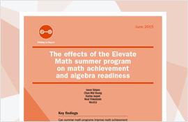 Effects of Elevate Math Summer Program