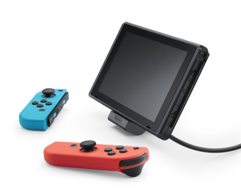 The adjustable charging stand for the Nintendo Switch