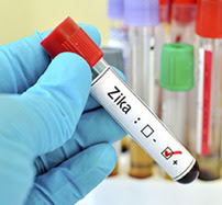 Blood vial labeled Zika