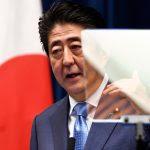Le Premier ministre japonais Shinzo Abe lors d'une conférence de presse dans sa résidence officielle le 19 juin 2017. (Crédits : AFP PHOTO / Toshifumi KITAMURA)