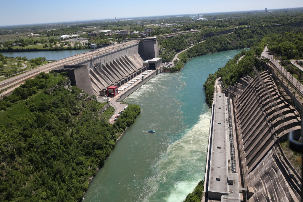 Aerials of U.S.-Canada Border Along The Niagara River