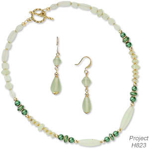 Single-Strand Necklace and Earring Set (Project H823)