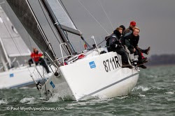 J/111 sailing Hamble Winter Series
