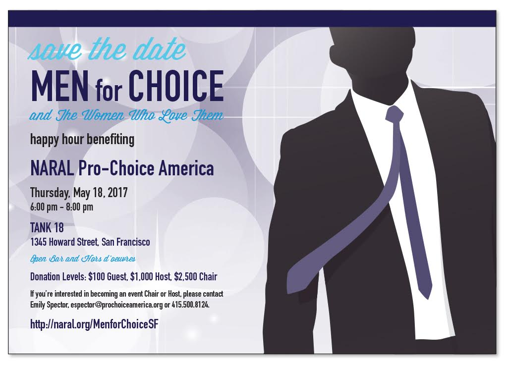 Save the date for our Men for Choice happy hour.