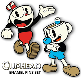 JUST FUNKY CUPHEAD ENAMEL PINS