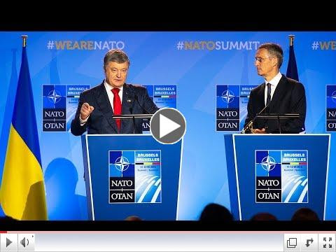 Press conference of President of Ukraine and NATO Secretary General. To view video, please click on image above