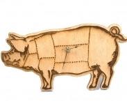 Pig Clock - Handmade - Laser Cut