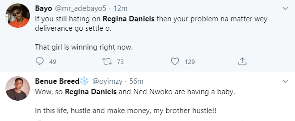 Nigerians react to news of Regina Daniels expecting her first child with husband, Ned Nwoko