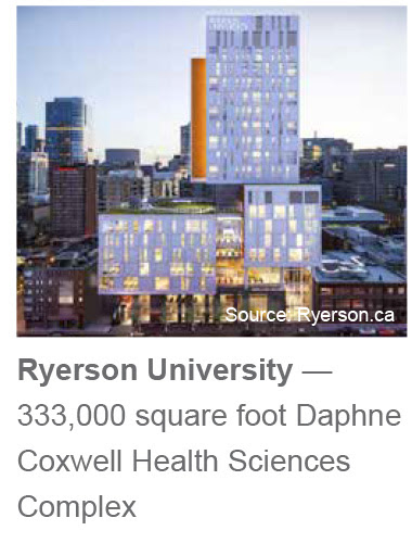 Ryerson University — 333,000 square foot Daphne Coxwell Health Sciences Complex