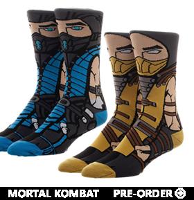 Mortal Kombat 360 Character Crew Socks