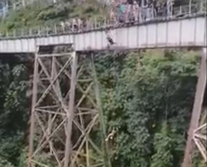 Woman plunges 164 feet to death in tragic bungee-jumping accident