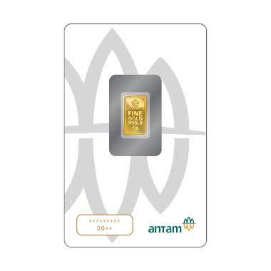 Antam Logam Mulia Keping Emas [1 g/ 999.9‰ Fine Gold Certificate]- Jakarta