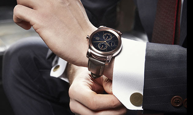 LG's 'luxury' smartwatch has an all-metal body and a leather strap