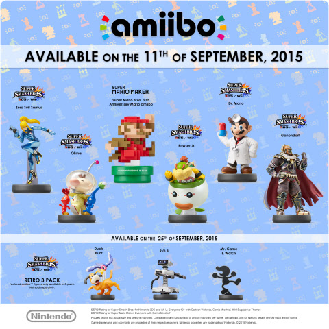 This September Nintendo is launching a variety of amiibo figures, including many fan-favorite charac ...