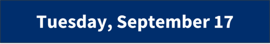 Tuesday, September 17