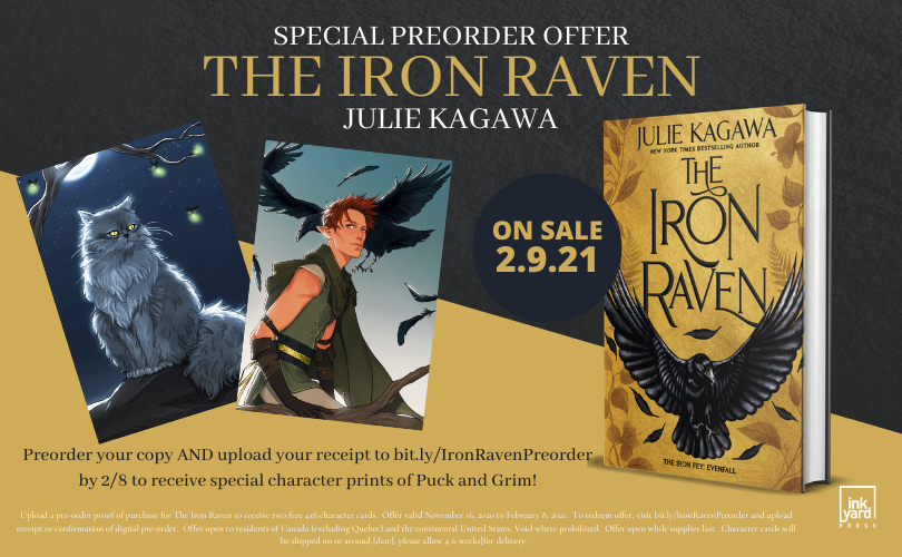 Special Preorder Offer for the Iron Raven by Julie Kagawa