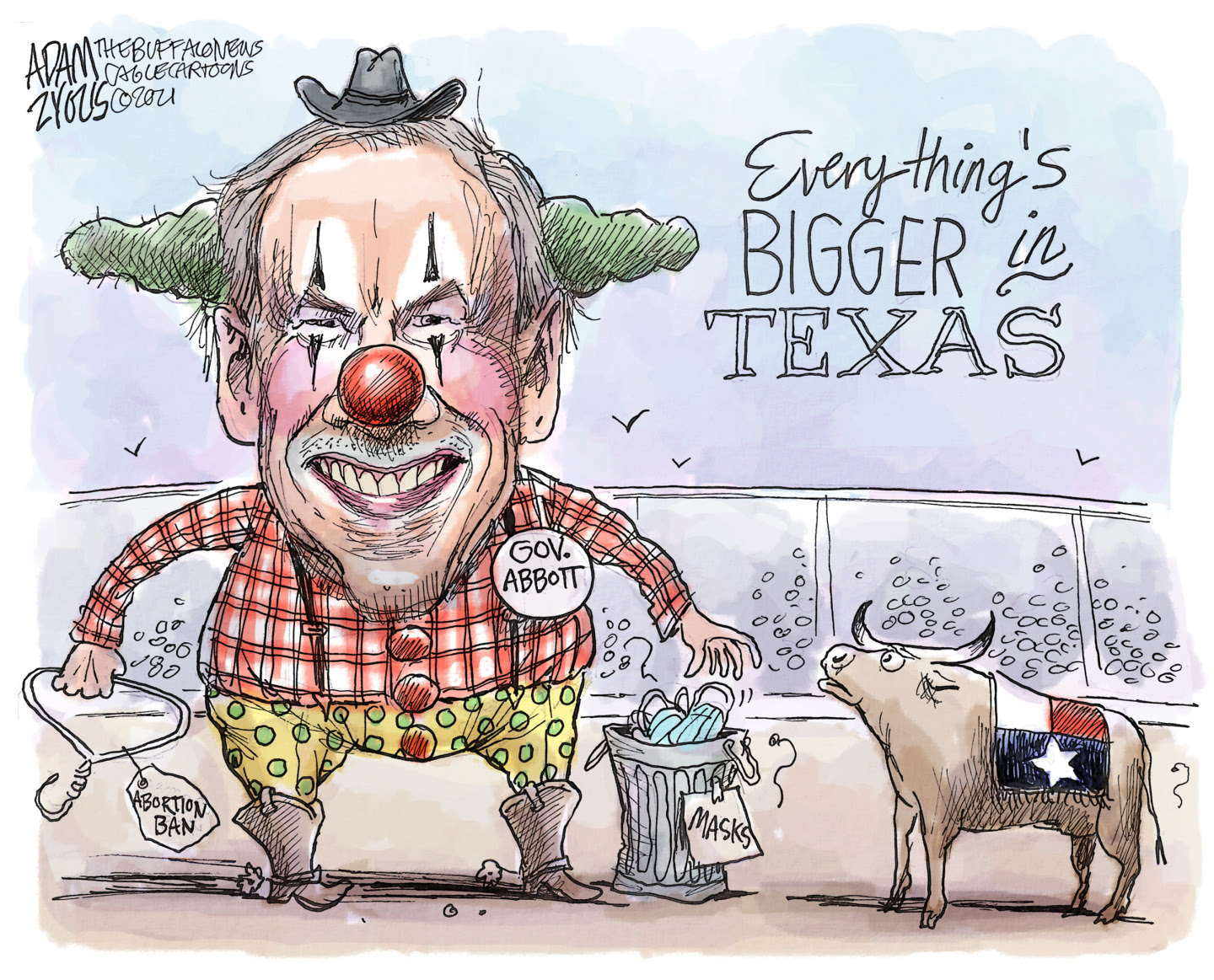 Greg Abbott is a Texas sized clown ignoring COVID dangers while banning abortions and pushing voter suppression