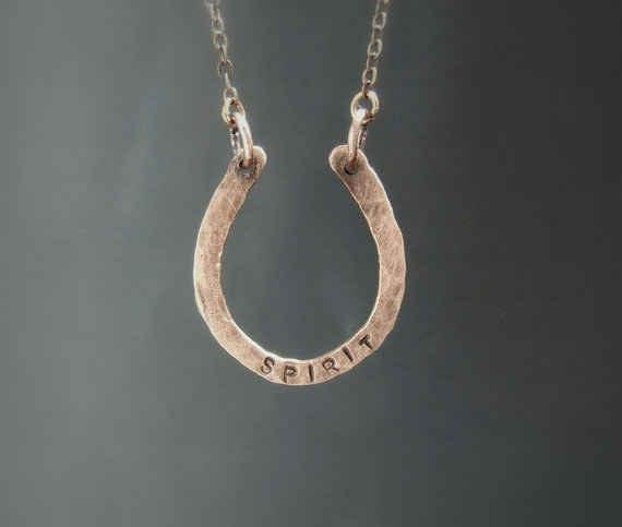 This customizable horseshoe necklace.