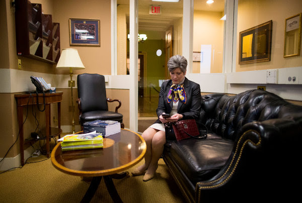 Senator Joni Ernst said she supported a paid-leave proposal because it would provide an option for new mothers who might otherwise leave the work force.