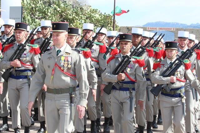 Prise d'armes et défilé en ville pour le cinquantenaire de l'arrivée du 2e REP à Calvi Gal-4499527
