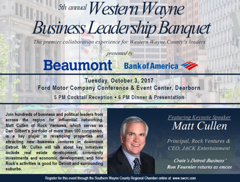 5th Annual Western Wayne Business Leadership Banquet @ Ford Motor Company Conference & Event Center Dearborn | Dearborn | Michigan | United States
