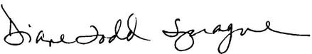 Diane Todd Sprague signature