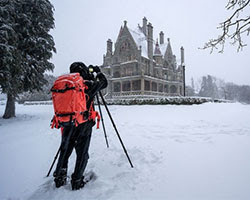 Snow at Craigdarroch Castle. Credit: Dave Hutchison