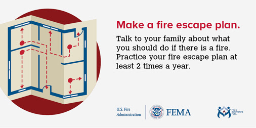 Make a Fire Escape Plan Graphic