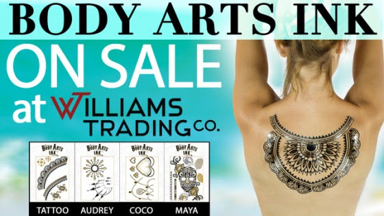 Body Arts Ink On Sale At Williams Trading Co.
