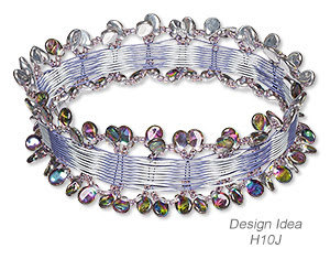 Bangle Bracelet with Preciosa Pip (Design Idea H10J)