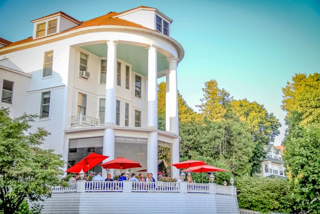 The Island House opened as a three-story, wood-frame hotel on the island's waterfront in 1852, about the time Mackinac began emerging as a summer tourist destination.