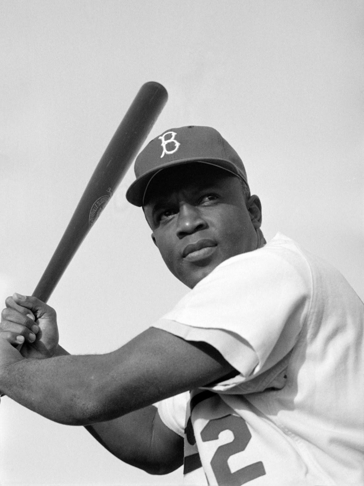 Jackie Robinson  Brooklyn Dodgers  1954