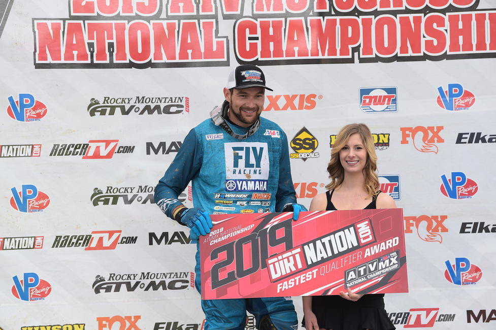 Chad Wienen also earned the DirtNation.com Fastest Qualifier Award.