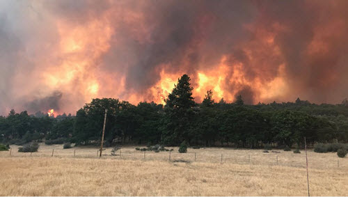 Pciture of the Klamathon Fire