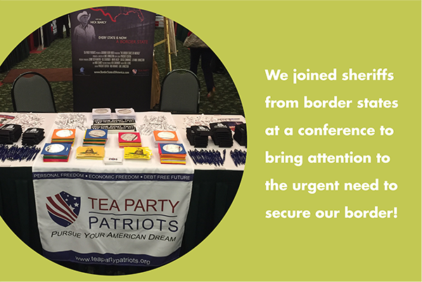 We joined sheriffs from border states at a conference to bring attention to the urgent need to secure our border!