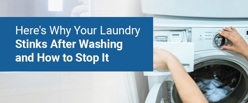 Here's why your laundry stinks after washing and how to stop it