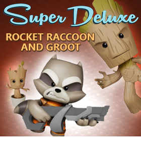 SUPER DELUXE PREMIUM VINYL GROOT AND ROCKET