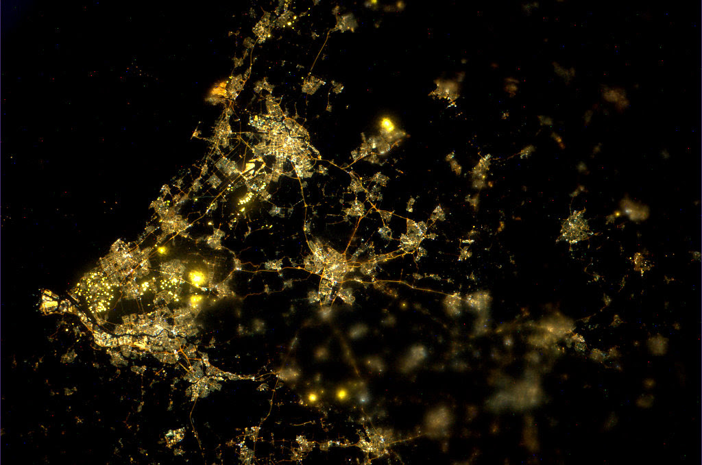 Nightpod photograph of the Netherlands (Credit: ESA/NASA)