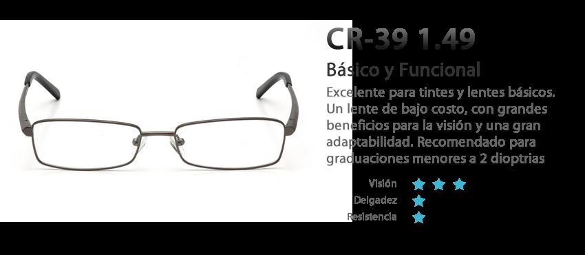 Lentes cr 39 vision sencilla