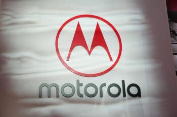 The Motorola logo on a sign