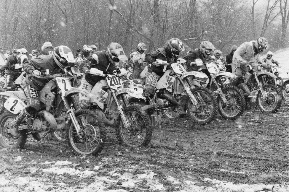 Snow, mud and somewhat icy conditions took over the High Point GNCC back in the year 1993.
