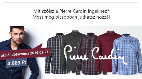 Pierre Cardin ingek leárazása