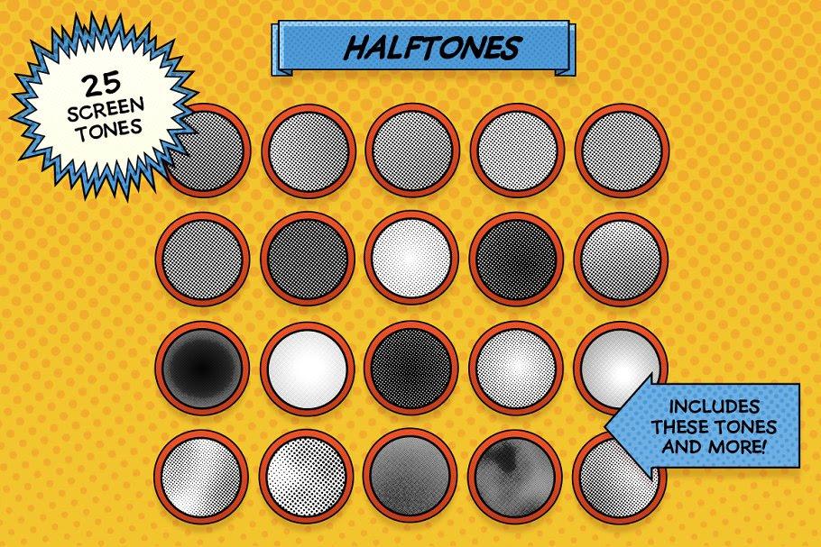 comic halftones