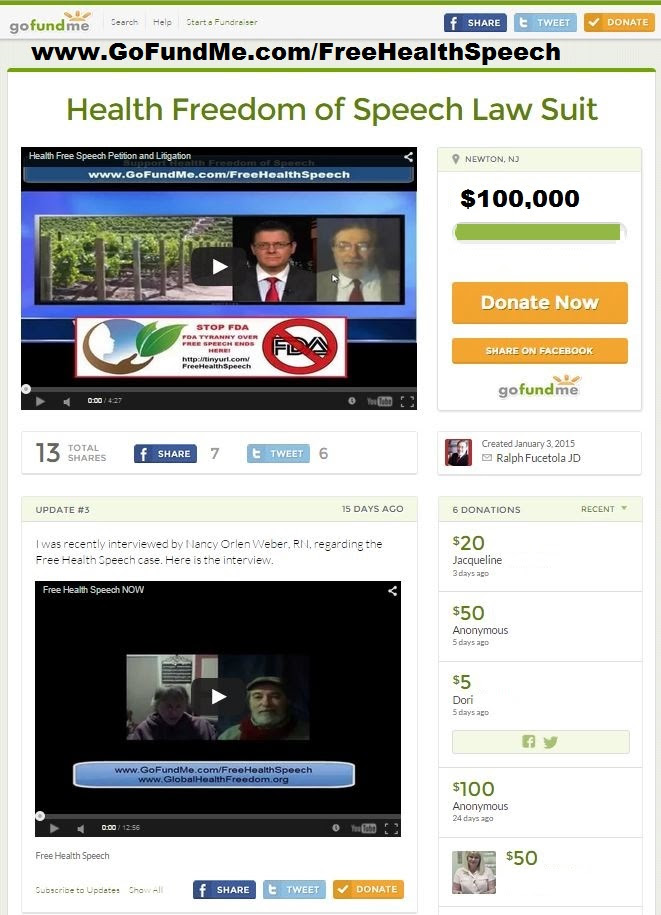 FreeHealthSpeech.GofundMe.screenshot