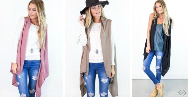 HOT!! Long Knit Kimono Vest...