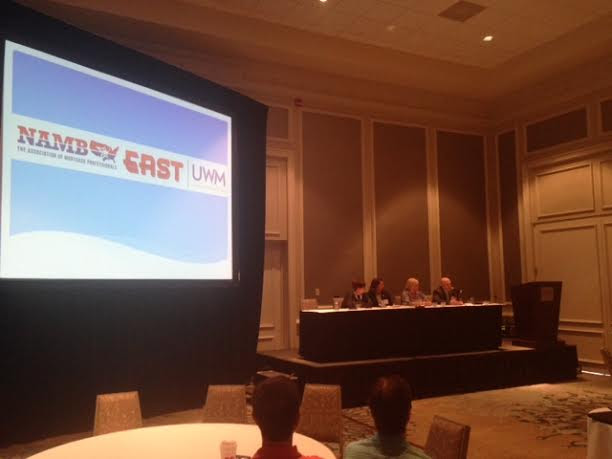 Dale DiGennaro speaking on a panel at NAMB East  in Hilton Head