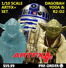 DAGOBAH YODA & R2-D2 ARTFX+ SET